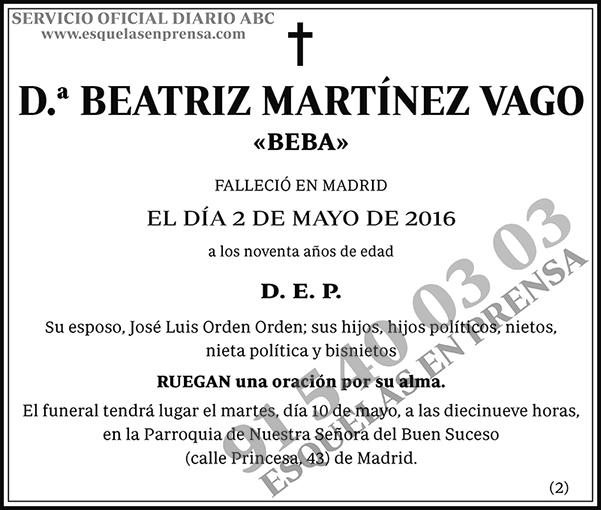 Beatriz Martínez Vago